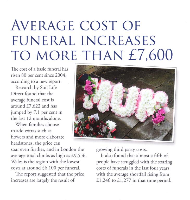 Funeral costs 2013 Large